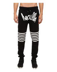 Haculla - Black Striper Knit Pants for Men - Lyst
