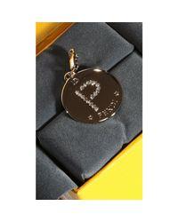 Fendi | Metallic Bijoux Rhine Stone Charming Letter P | Lyst
