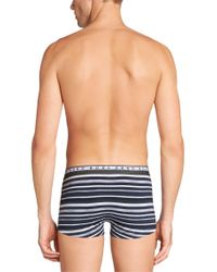 BOSS Blue Boxer Shorts 'boxer Multistripes' In A Cotton Blend for men