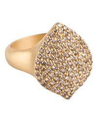 Jamie Wolf - Metallic Pave Cognac Diamond 18k Gold Acorn Cocktail Ring - Lyst
