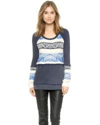 Free People Blue Snow Angel Pullover - Ballet Combo