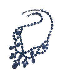 Material Girl | Cobalt Blue Splatter Stone Statement Necklace | Lyst