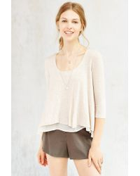 Kimchi Blue - White Sail Away Tiered Top - Lyst