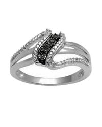 Tia Collections - Metallic 0.03ctw Black Diamond Ring - Lyst
