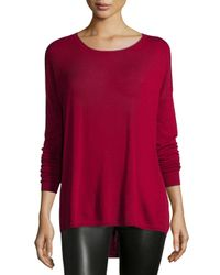 Vince Red Long-sleeve Crewneck Shirt