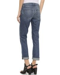 PAIGE Blue Porter Relaxed Straight Leg Jeans - Dazeley