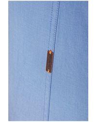 BOSS Orange - Blue Slim-fit Casual Cotton Shirt 'edaslime' for Men - Lyst