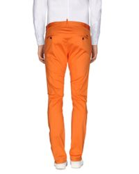 DSquared² - Orange Casual Trouser for Men - Lyst