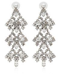 DANNIJO - Metallic Allegra Crystal Drop Earrings - Lyst
