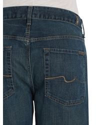 7 For All Mankind - Blue Austyn Relaxed Straight Leg Faded Jeans for Men - Lyst
