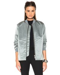 Acne | Gray Fuel Tech Bomber | Lyst
