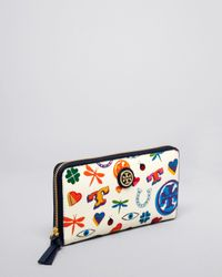 Tory Burch Multicolor Wallet - Kerrington Zip Continental
