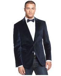 Sean John - Blue Velvet Pindot Blazer for Men - Lyst