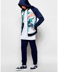 Adidas Originals | Blue Superstar Skinny Trackpants In Chaos Print for Men | Lyst