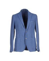 Tagliatore | Blue Blazer for Men | Lyst