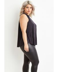 Forever 21 | Gray Faux Suede Top | Lyst