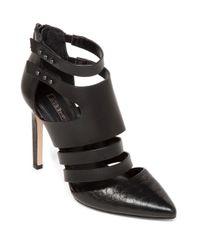 BCBGeneration Black Canon Leather Stilettos
