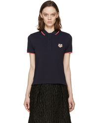 KENZO - Blue Navy Tiger Crest Polo - Lyst