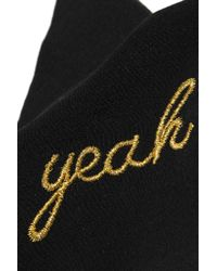 Saint Laurent - Black Yeah Baby Embroidered Silk Crepe De Chine Cuff - Lyst