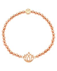 Melissa Odabash | Pink Rose Gold Plated Lotus Ball Bracelet | Lyst