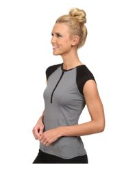 Spanx - Gray Capped Sleeve Top - Lyst