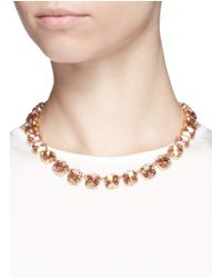 J.Crew | Multicolor Faceted Cone Necklace | Lyst