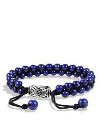 David Yurman Metallic Spiritual Beads Tworow Bracelet with Lapis Lazuli for men