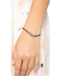 Marc By Marc Jacobs | Metallic Open Heart Friendship Bracelet Black | Lyst
