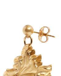 Ela Stone | Metallic 'nala' Lion Head Spike Drop Earrings | Lyst