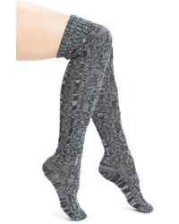 UGG | Gray Ugg Australia 'classic' Cable Knit Over The Knee Socks | Lyst