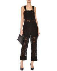 Nina Ricci - Black Lace Jumpsuit - Lyst