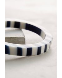 Anthropologie | Blue Skerry Stripe Bangle | Lyst