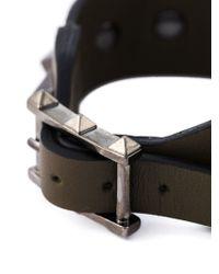 Valentino Green 'rockstud' Bracelet for men