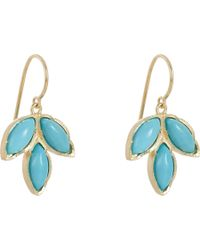 Irene Neuwirth - Metallic Turquoise & Gold Triple-Marquise Earrings - Lyst