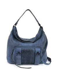 She + Lo | Blue 'next Chapter' Studded Hobo Bag | Lyst