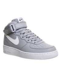 Nike Gray Air Force 1 Mid