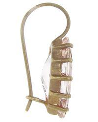 Andrea Fohrman   Metallic Marquis Morganite Earring   Lyst