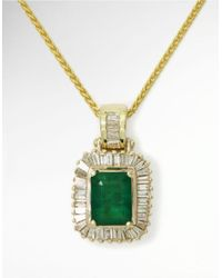Effy - Multicolor Emerald Diamond And 14k Yellow Gold Pendant Necklace, 0.54 Tcw - Lyst