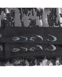 Manila Grace - Black Scarf Wool Jaquard Lurex - Lyst