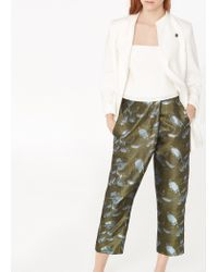 Mango Blue Premium - Floral Wrap Trousers