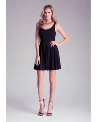 Bebe Black Fit N Flare Tank Dress