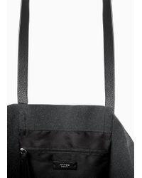 Mango Black Pebbled Shopper Bag
