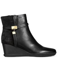 Geox | Black D Amelia Stivali Wedge Booties | Lyst