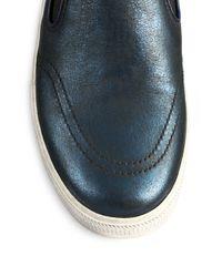 Ash - Blue Jungle Metallic Leather Platform Sneakers - Lyst