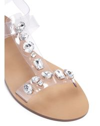 J.Crew Metallic Jeweled T-strap Sandals