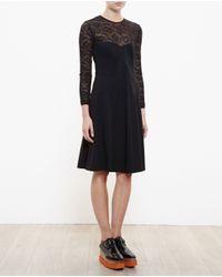 Stella McCartney - Black Lace Bustier Dress - Lyst