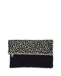 Clare V. - Black Ladybug Calf-hair Fold-over Clutch Bag - Lyst
