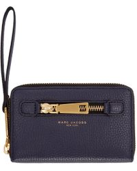 Marc Jacobs Blue Navy Leather Gotham City Wallet for men