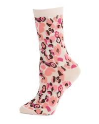 Kate Spade | Pink Patterned Trouser Socks | Lyst