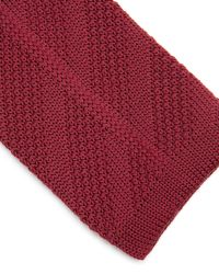 Ted Baker - Red Nitted Knit Tie for Men - Lyst